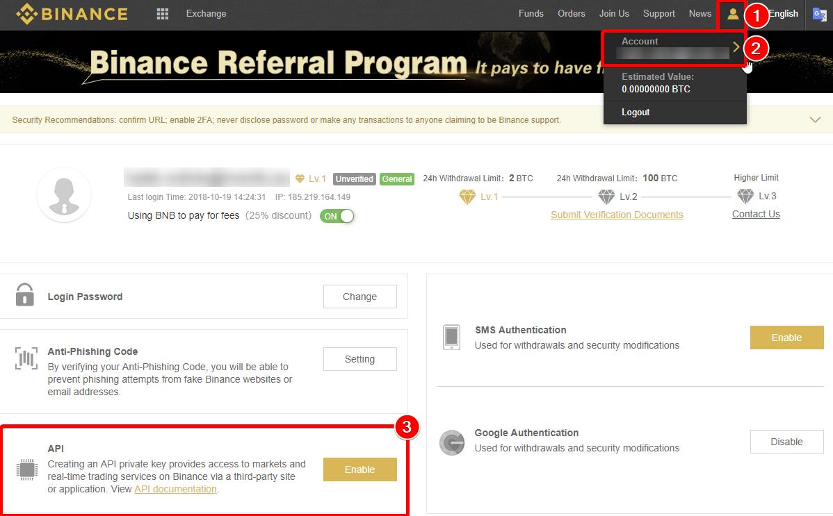 how to trade binance app